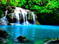 Waterfall In A Jungle, So Peaceful UPGRADED..