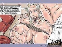 Sex Comic Book Hot Blonde Boss Bound up And..